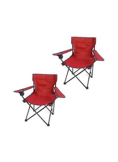 Bofigo Kamp Sandalyesi Kırmızı